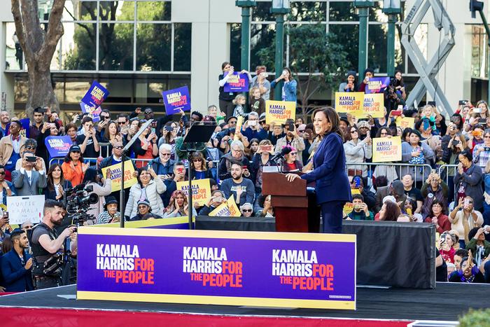 Senator Kamala Harris at her campaign launch in Oakland, California, January 27, 2019.