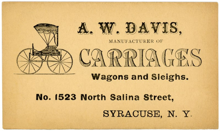 A.W. Davis business card
