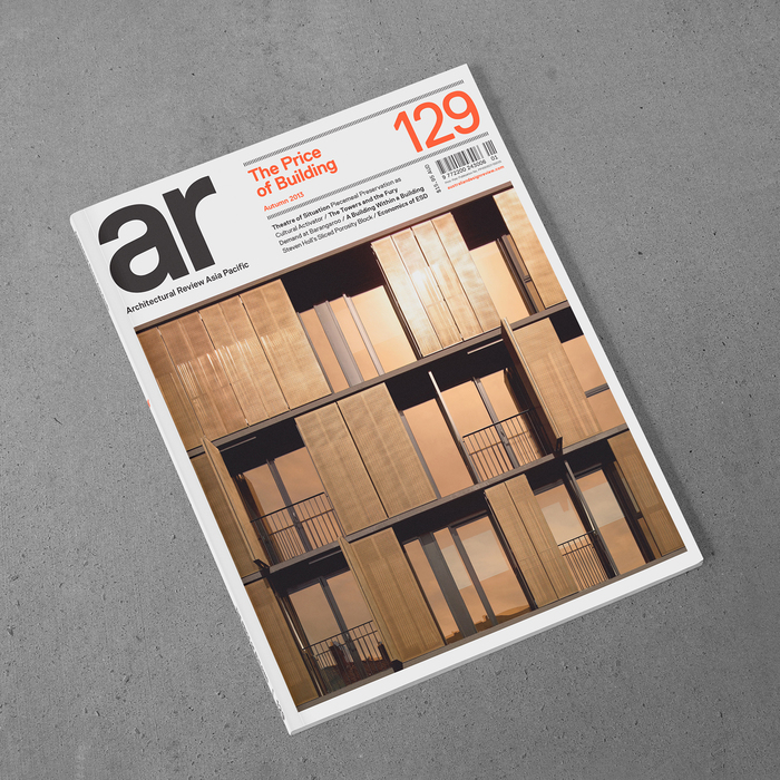 Cover of Architectural Review Asia Pacific, Issue 129, Autumn 2013 edition.