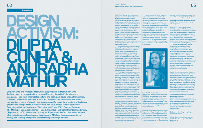 Inside Architectural Review Asia Pacific, Issue 126, August–September 2012 edition.
