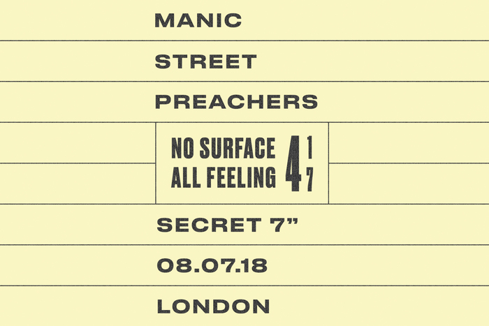 "Manic Street Preachers – ""No Surface All Feeling"" (Secret 7″) 2"