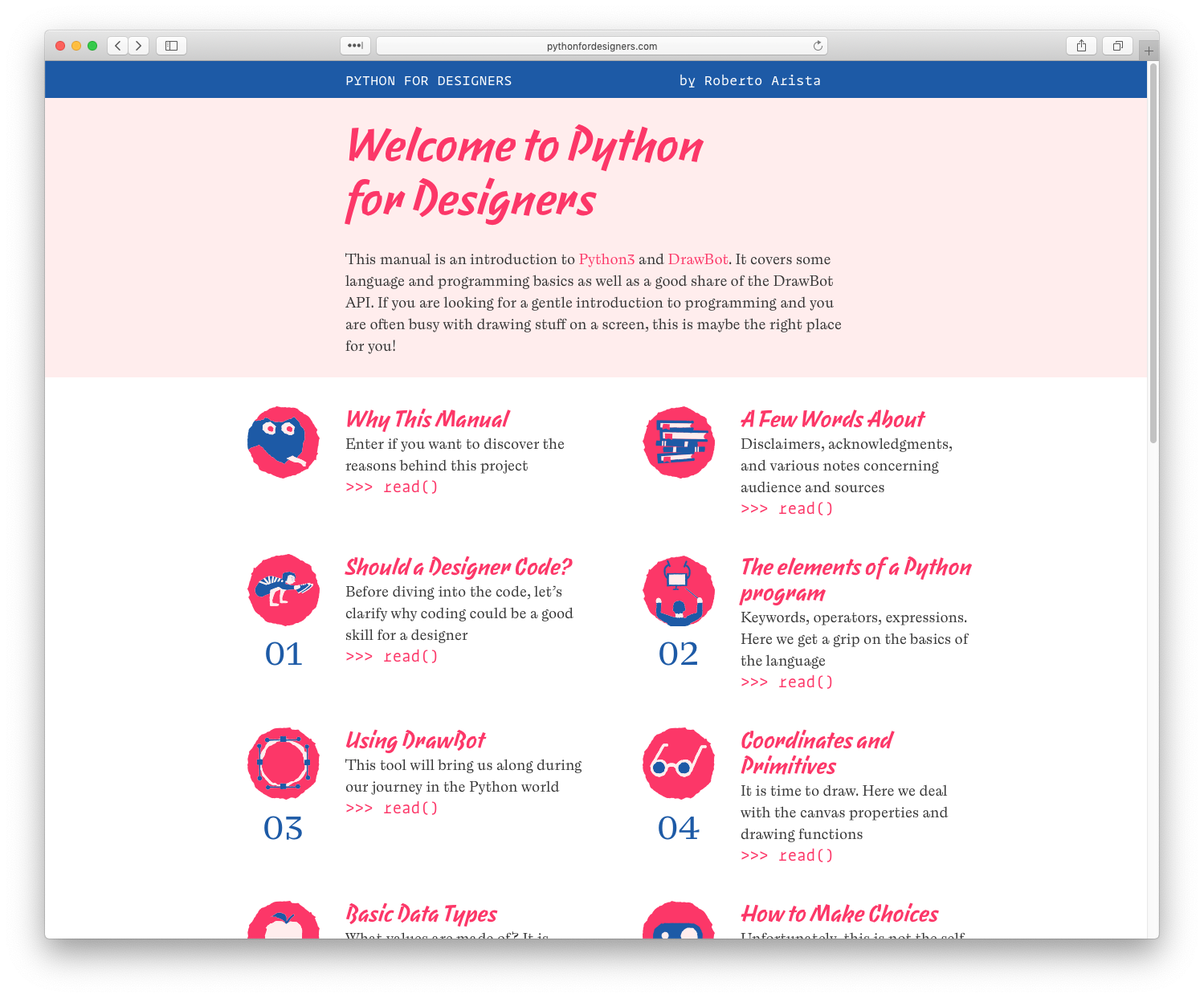 Python for Designers - Fonts In Use