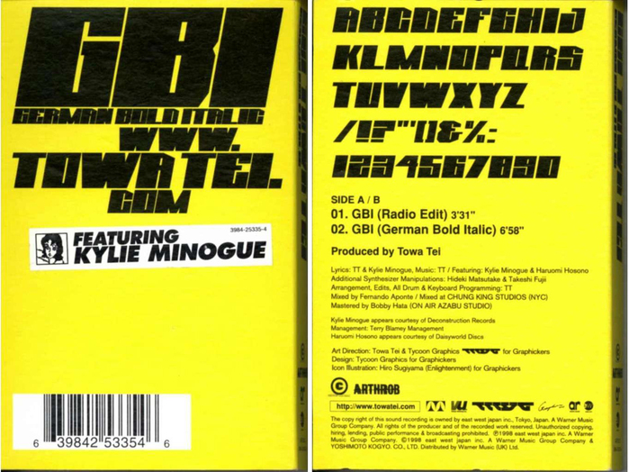MC cover by Arthrob (UK, 1998) with a mini specimen on the back.