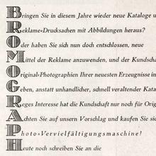 Bromograph ad