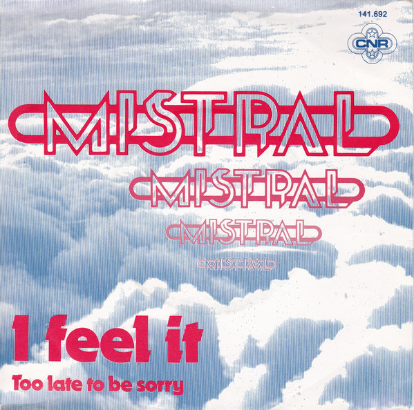"""""""I Feel It"""" featuring Julia Loko of Cheyenne, with B-side """"Too Late To Be Sorry"""", 1980. The secondary face is  , which was available as dry-transfer type from Mecanorma, too."""