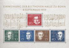 Beethoven-Halle souvenir sheet