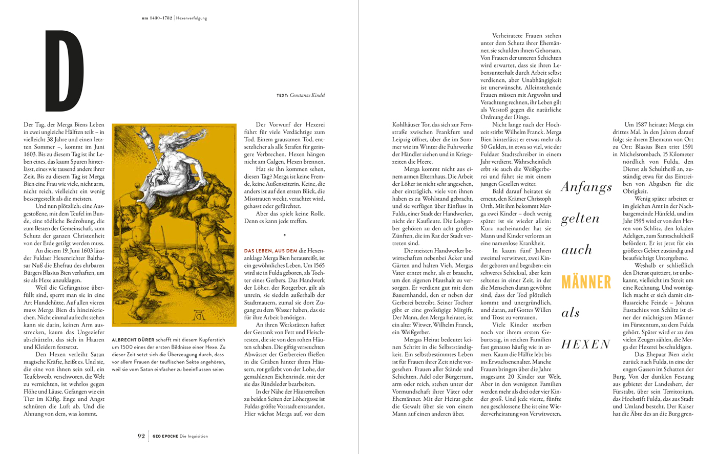 """GEO Epoche No  89, """"The Inquisition"""" - Fonts In Use"""