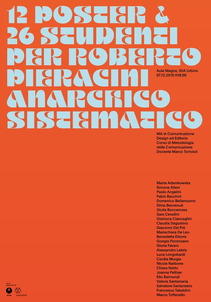 12 Poster & 26 Studenti per Roberto Pieracini Anarchico Sistematico 3