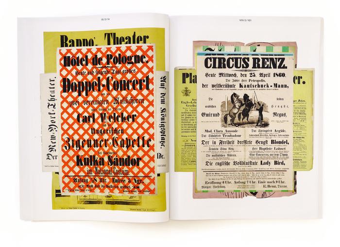 Stacks of posters from Oskar Leiner's print shop.