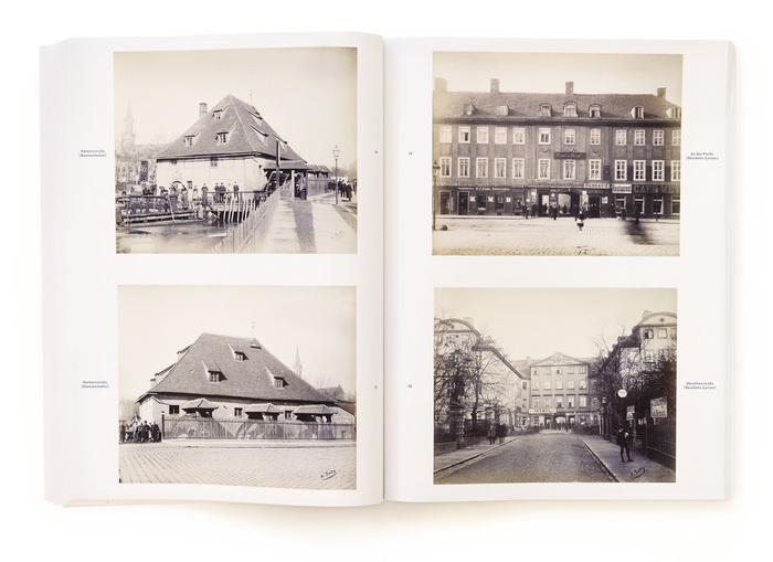 The photographs are reproduced from the five-volume album Das alte und neue Leipzig. The original captions and image sequence were retained.