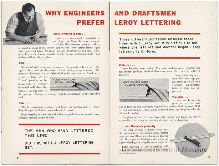 Leroy Lettering Sets Catalog (1939) 2