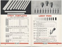 Leroy Lettering Sets Catalog (1939)