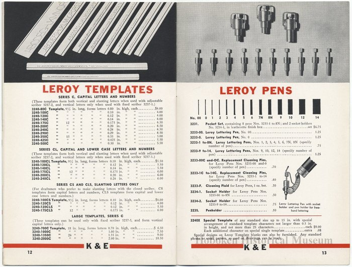 Leroy Lettering Sets Catalog (1939) 5