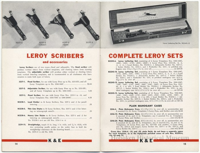 Leroy Lettering Sets Catalog (1939) 6