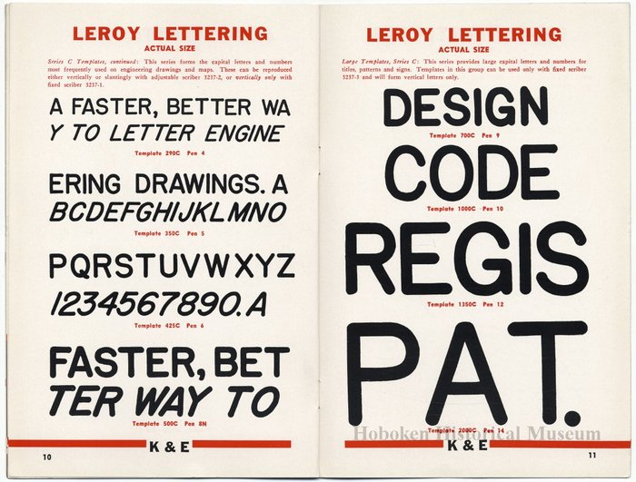Leroy Lettering Sets Catalog (1939) 4