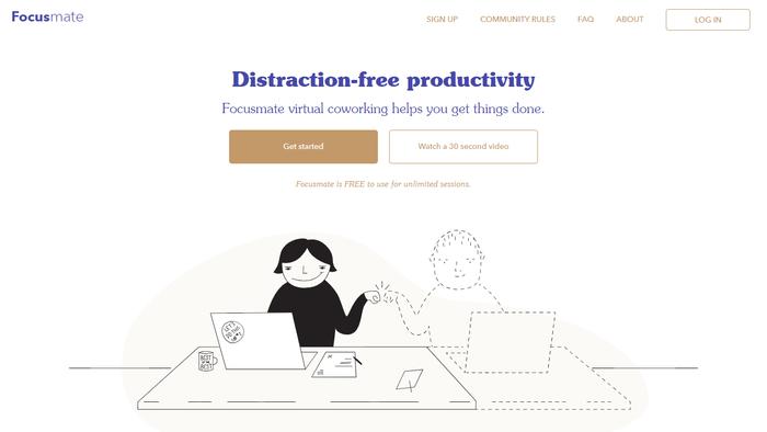 Focusmate website 1