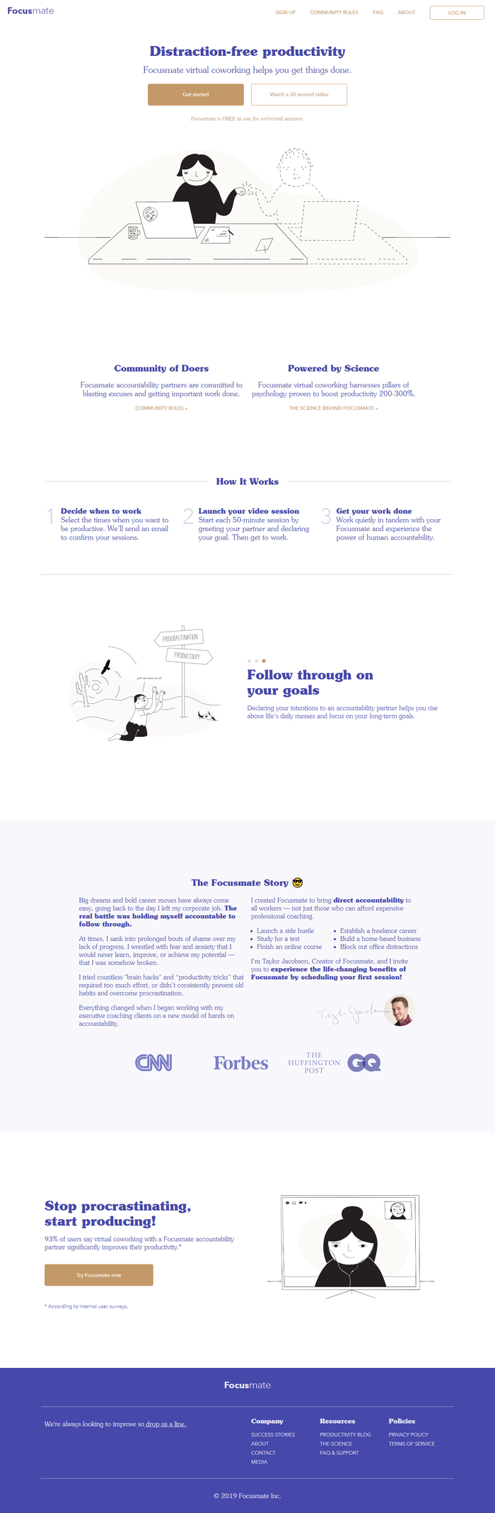 Focusmate website 7