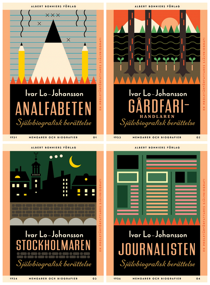 Ivar Lo-Johansson series, Albert Bonniers Förlag 1