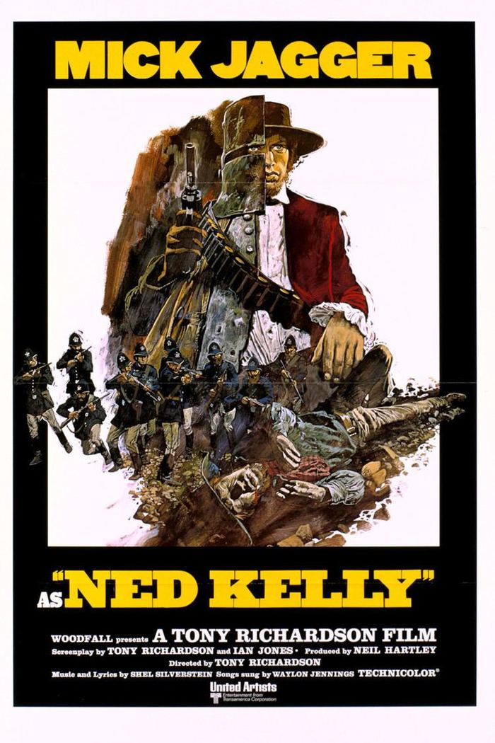 An alternate poster shows the same typography and the same split screen / split personality image concept but this time it is executed as an illustration, with some extra guns and death.