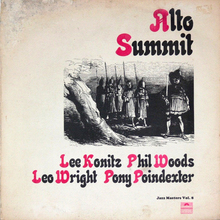 <cite>Alto Summit</cite> (Polydor) album art