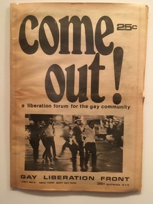 <cite>Come Out!</cite> Vol. 1 No. 5, 1970