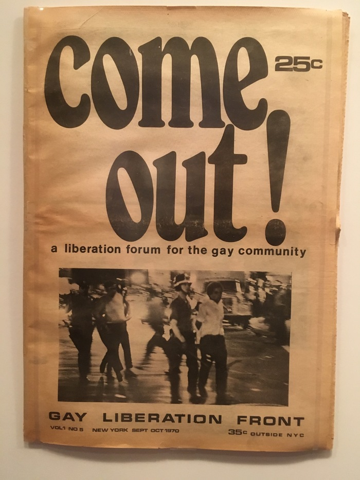 Come Out! Vol. 1 No. 5, 1970 1
