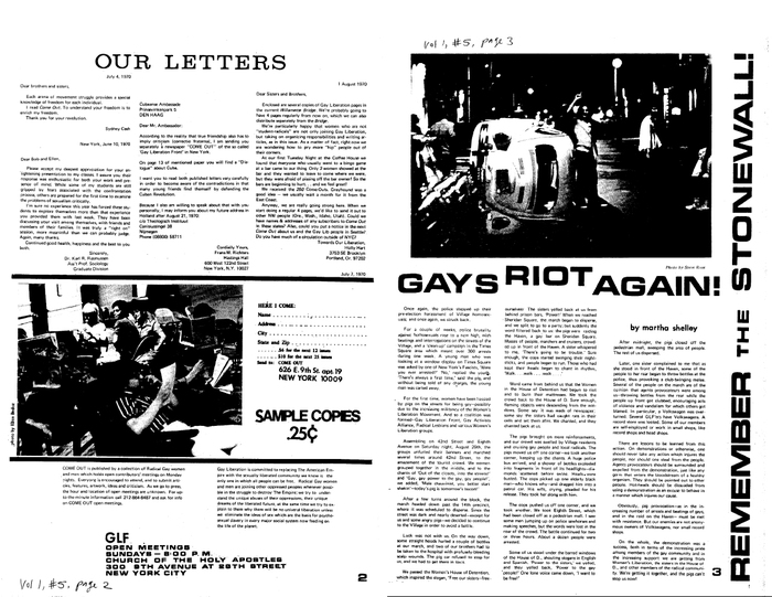 A spread from the same newspaper, scanned and made available as a pdf through outhistory.org .