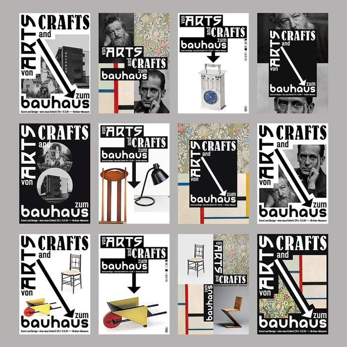 A peek into the process: preliminary sketches by Gerwin Schmidt. He eventually settled on the most effective layout, with the type at the top, in stacked and staggered black boxes, and a photograph of a single object underneath. Aseries of three posters was selected for print.