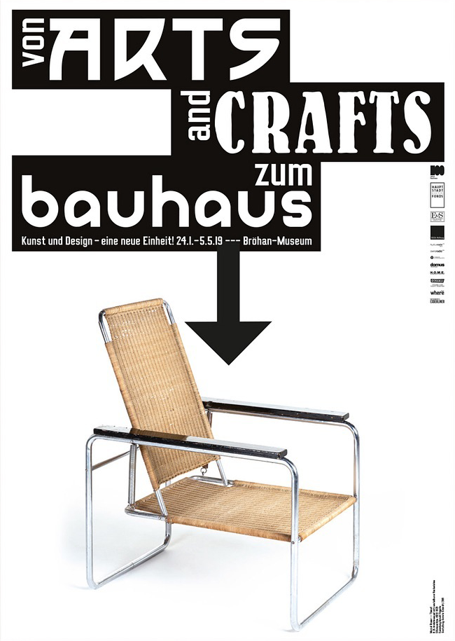 Von Arts And Crafts Zum Bauhaus Brohan Museum Fonts In Use