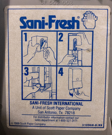 Sani-Fresh hand soap refill instruction