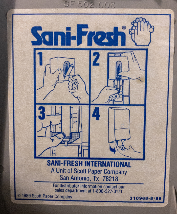 Sani-Fresh hand soap refill instruction