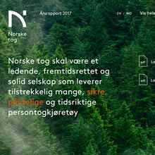 Norske tog website