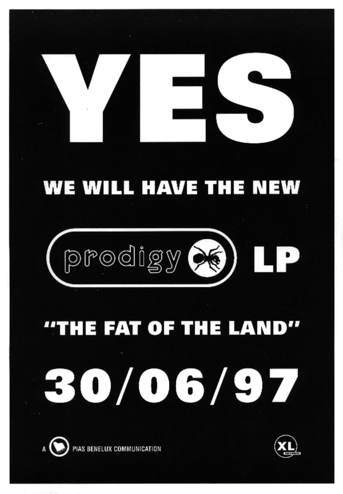 Announcement by Belgian record company PIAS. The heavy sans serif caps that also appeared on the album cover are from the fattest member of , the 85 Extra Black.