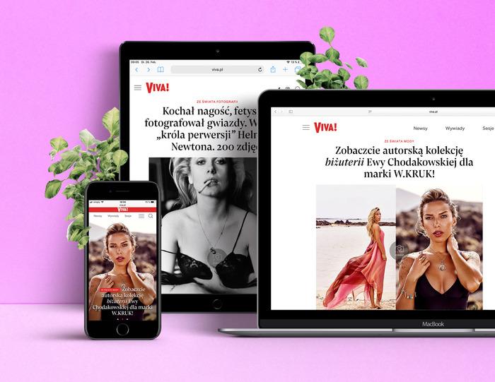 Viva! website 1