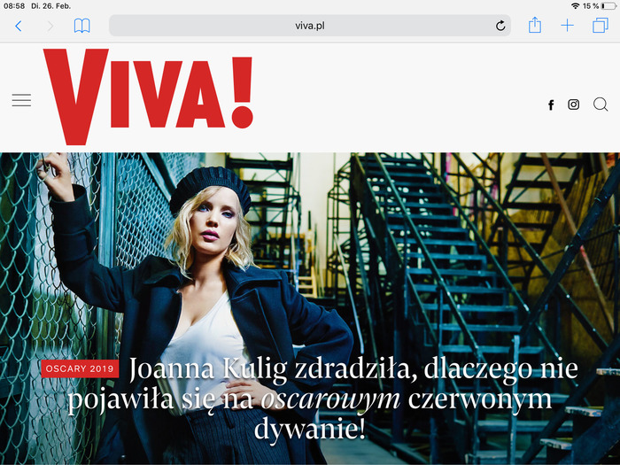 Viva! website 2