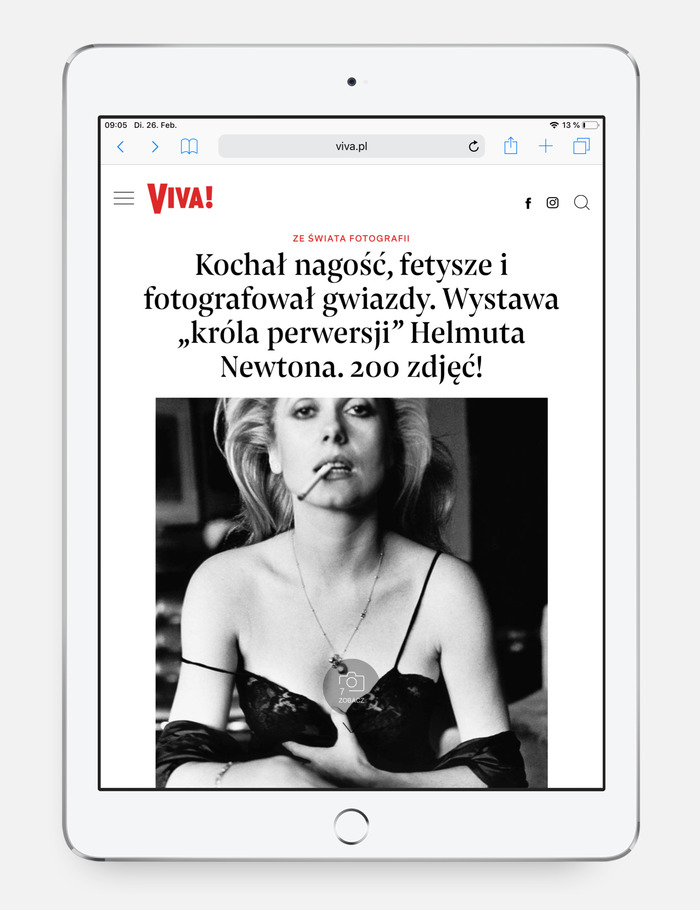 Viva! website 4