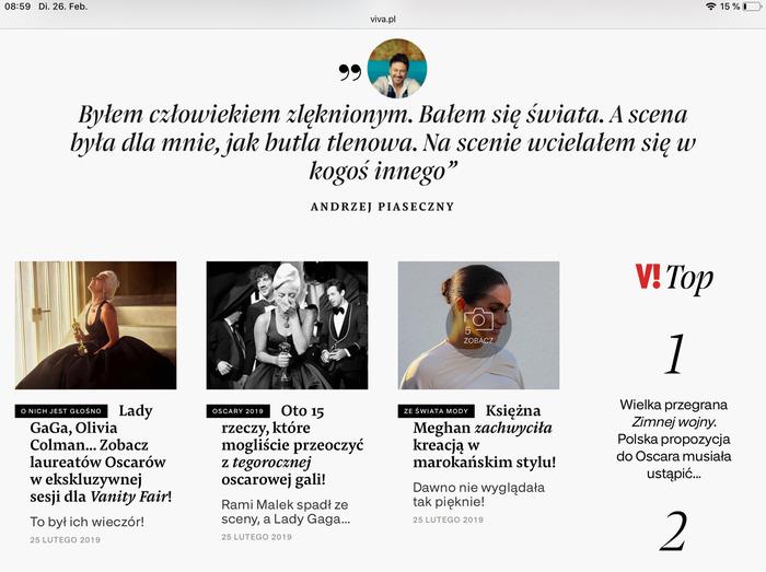 Viva! website 5