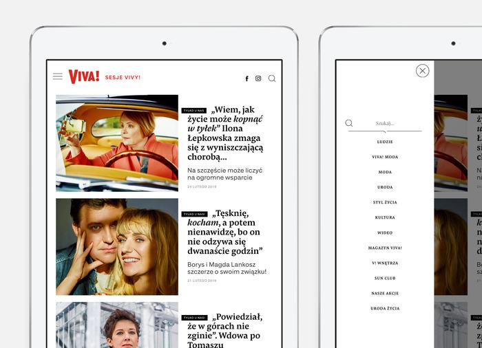 Viva! website 6