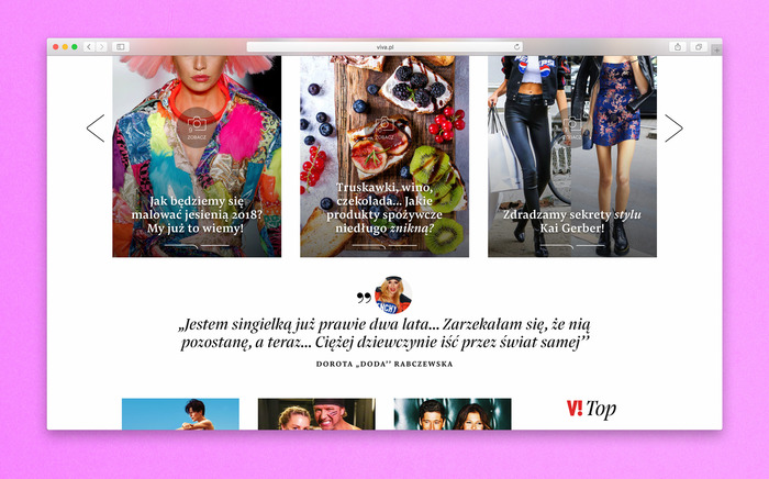 Viva! website 9