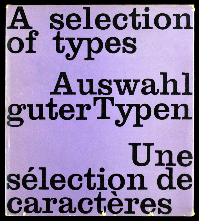 A selection of types / Auswahl guter Typen / Une sélection de caractères