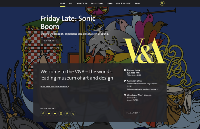 V&A website 1