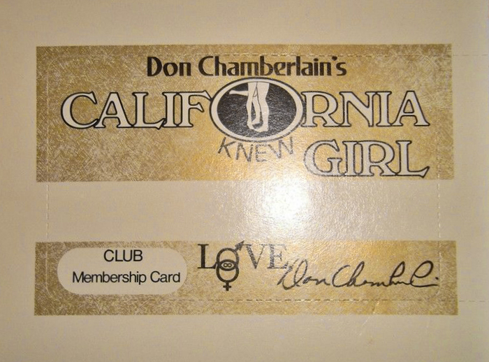 Club Membership Card. Claire Spiegel's article from October 1972 mentions 22,000 card-carrying fans. The typography features an early use of  next to outlined  and .