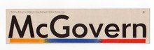 1972 George McGovern Campaign bumper stickers