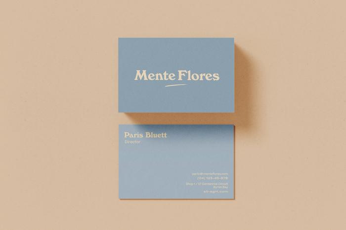 Mente Flores business cards 1