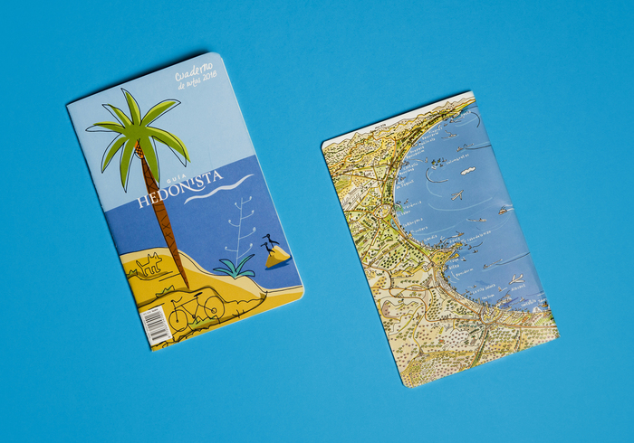 Route book accompanying the Guía Hedonista 2018. Cover by Javier Mariscal. Photo: María Mira.
