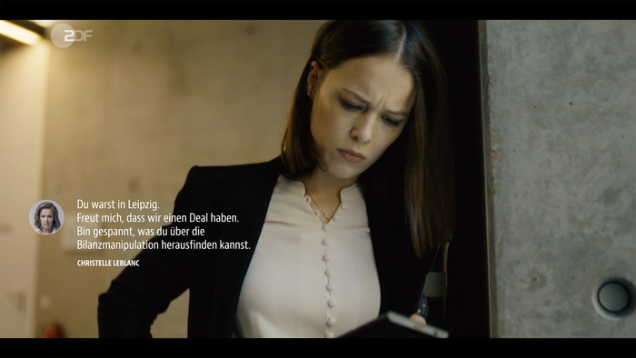 Text message in JAF Bernino Sans Condensed.