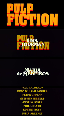 <cite>Pulp Fiction </cite> (1994) titles
