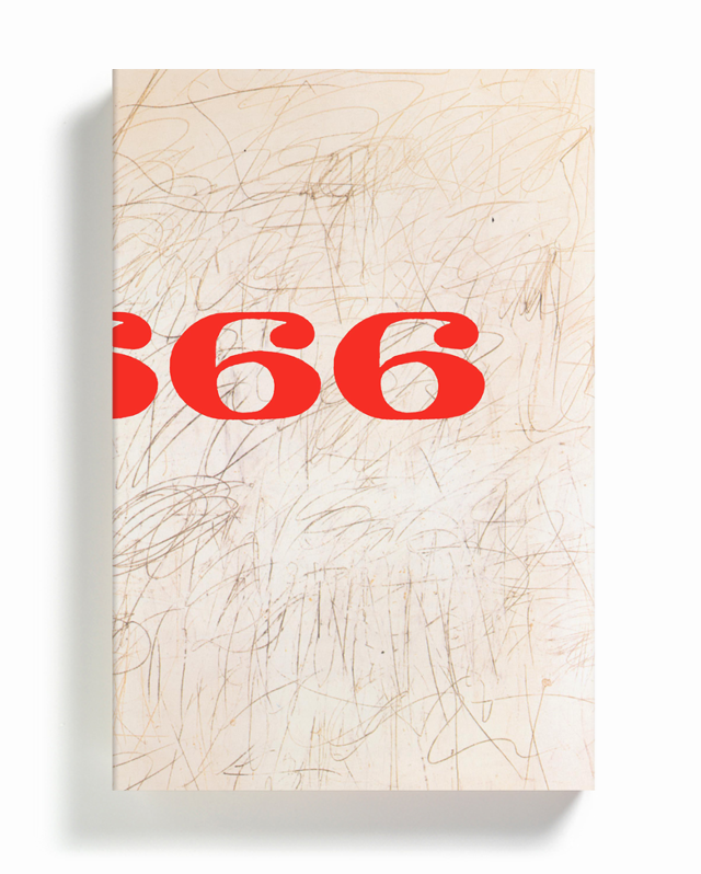 Vol. 2 with a detail from a work by Cy Twombly.