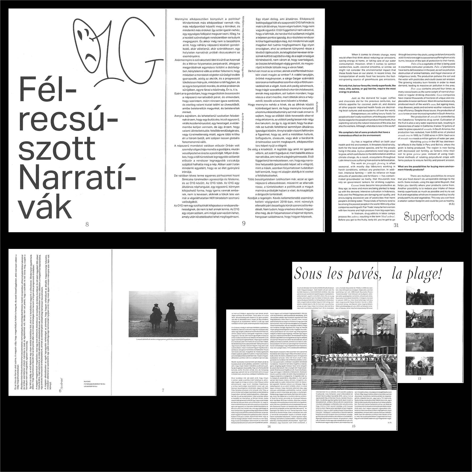 Utca & Karrier magazine - Fonts In Use