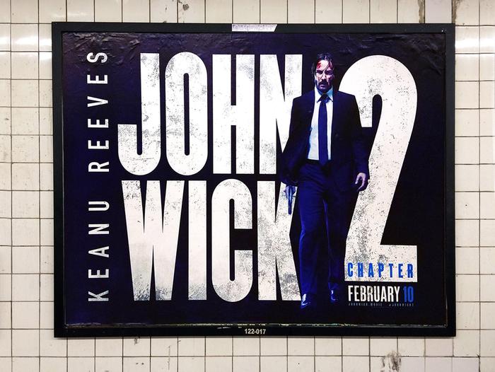 Poster, New York subway